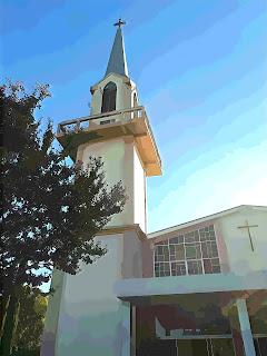 Fachada e Torre Lateral da Igreja Matriz São José Operário, Nova Petrópolis