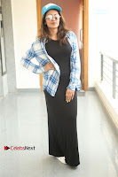 Actress Tejaswi Madivada Stills in Balck Long Dress at Babu Baga Busy Movie Interview  0009.jpg