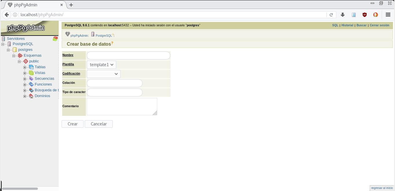 Configurar phppgAdmin  para conectar con PostgreSQL en Fedora 25
