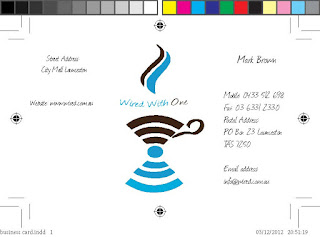 WIRED WITH ONE WiFi COFFEE CUP LOGO DESIGN