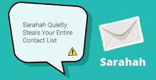 sarahah app steals contacts