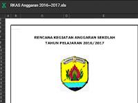 Aplikasi RKAS BOS SD Sesuai Juknis BOS 2017