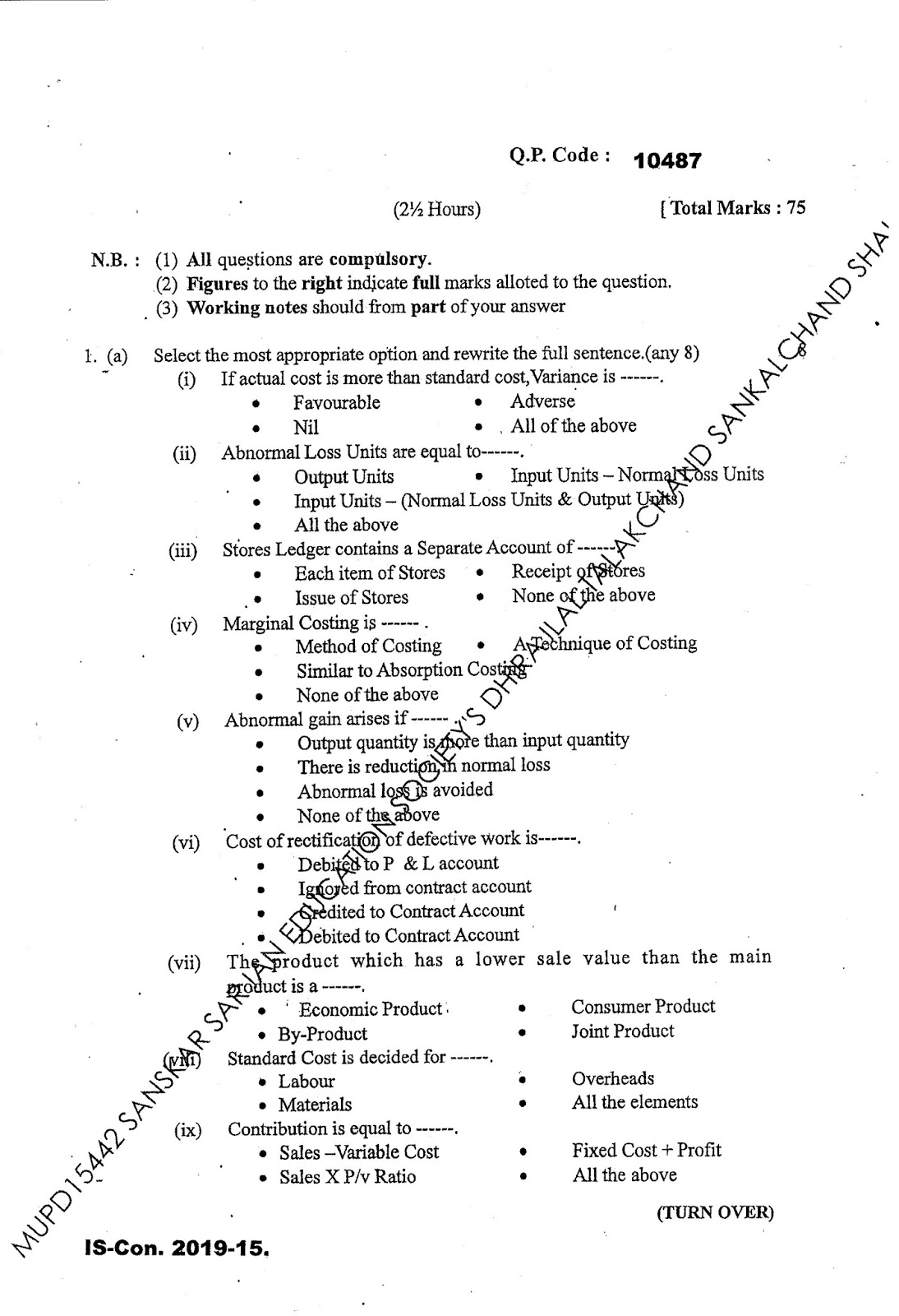 Acc question paper 2017 - Accounting Past Papers | HOW TO