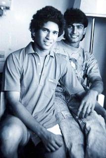 Foto Salil Ankola dengan Sachin Tendulkar