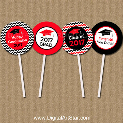 high school graduation cupcake toppers