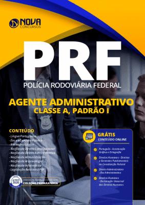 Apostila Concurso PRF 2020 Agente Administrativo - Classe A, Padrão I Grátis Cursos Online
