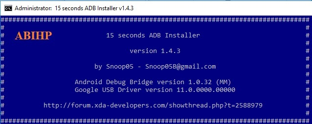 15 Seconds adb installer.