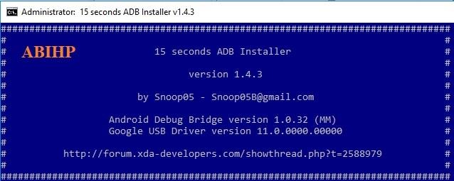 15 Seconds adb installer.