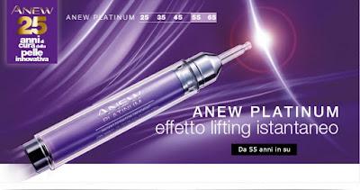 Avon Anew Platinum. Trattamento Effetto Lifting Istantaneo. Scoprilo nel catalogo Avon de la campagna in corso.