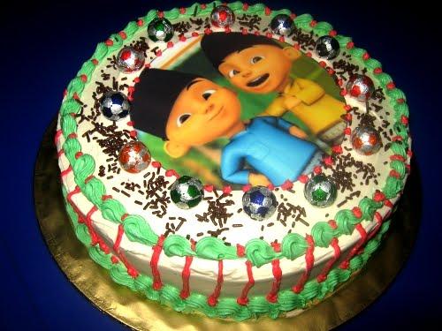 Birthday Cake Upin dan Ipin Betul Muffin Kaseh Azean