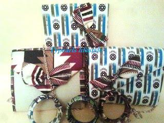Ankara clutch and notebooks