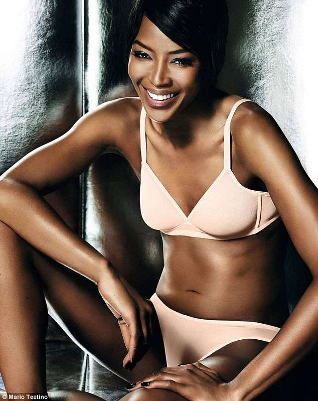 2712571f618 We re thrilled to see Naomi Campbell back in lingerie for her new  photo-shoot