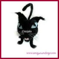 Gato negro amigurumi