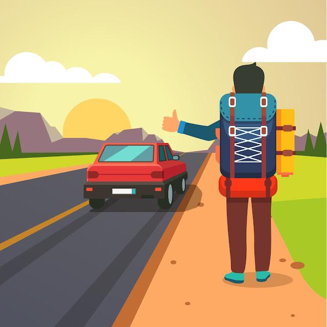hitchhiking backpacking