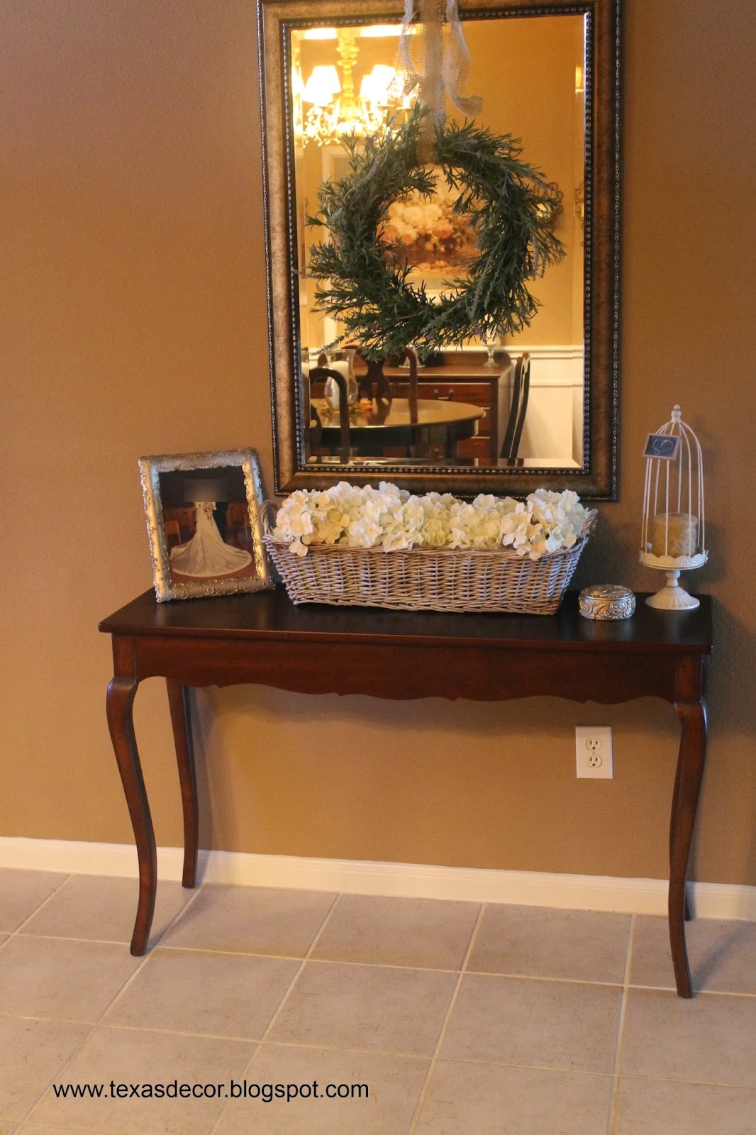 Texas Decor Foyer Basket And Dining Room Sideboard