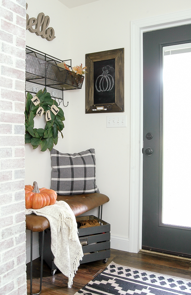 T.J. Maxx items in a mudroom