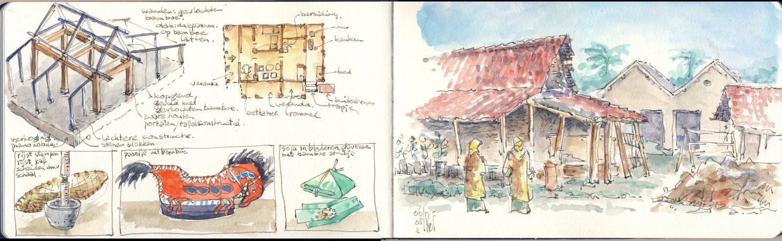 Eetkamer Eclipse Borobudur Indonesia Urban Sketchers