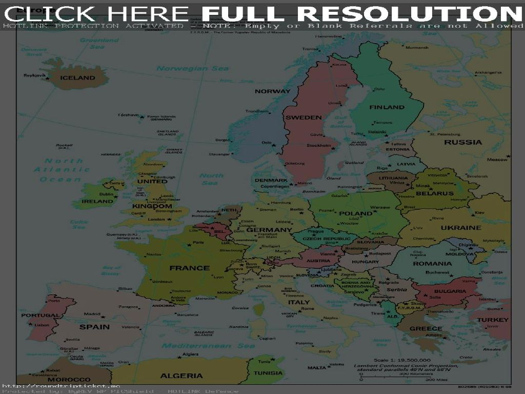 western europe map countries and capitals