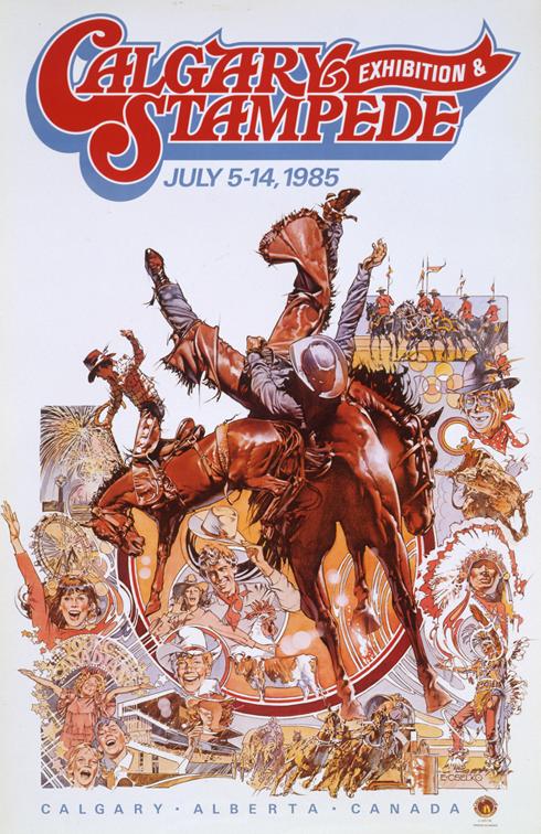 Vintage Calgary Stampede Posters Medicine Hat