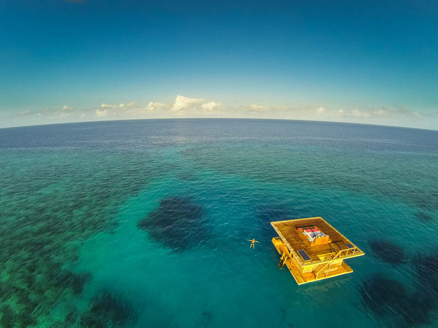 14 Crazy Hotels That Will Give You Serious Travel Goals -The Floating Hotel in Zanzibar, Tanzania is exactly what it sounds like, and gives guest some incredibly perspectives on sea life.