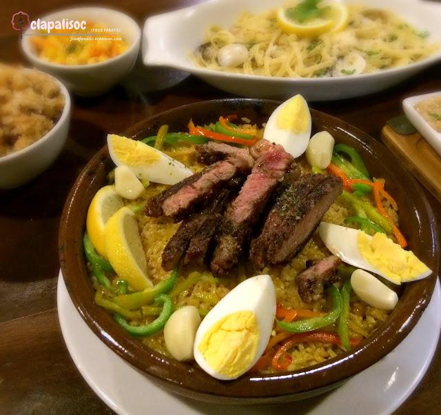 Ribeye Steak Paella from Hai Chix and Steaks Green Hills