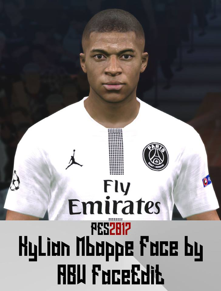 PES 2017 Mbappe Update Hair by ABW_FaceEdit