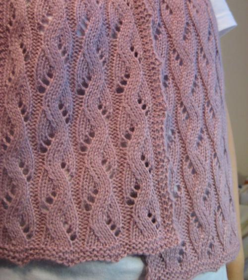Falling Water free knitting pattern