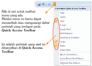 Menu Customize Quick Acces Toolbar