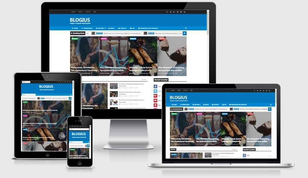 Blogius Blogger Template