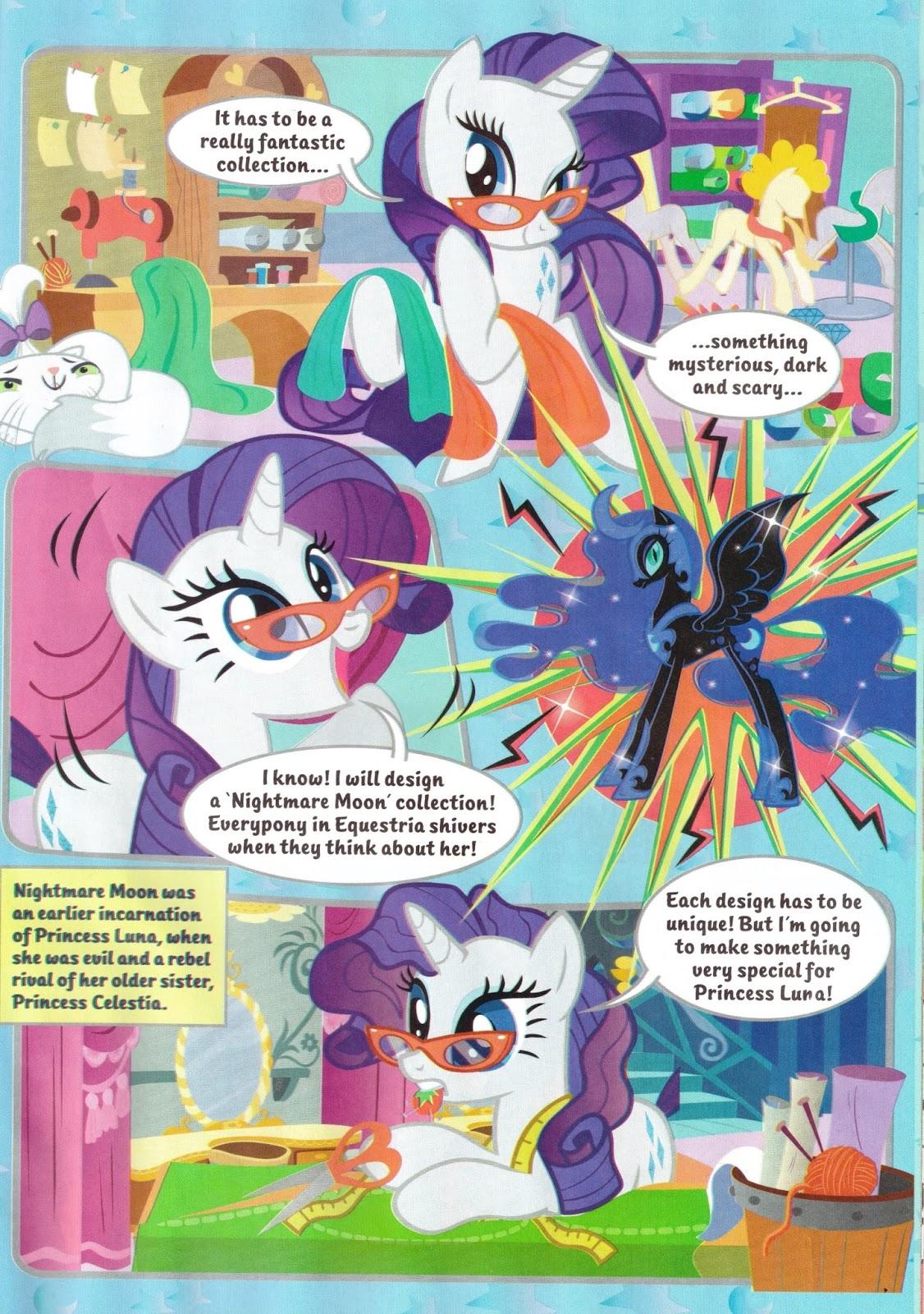 Nightmare Moon And Celestia Comics