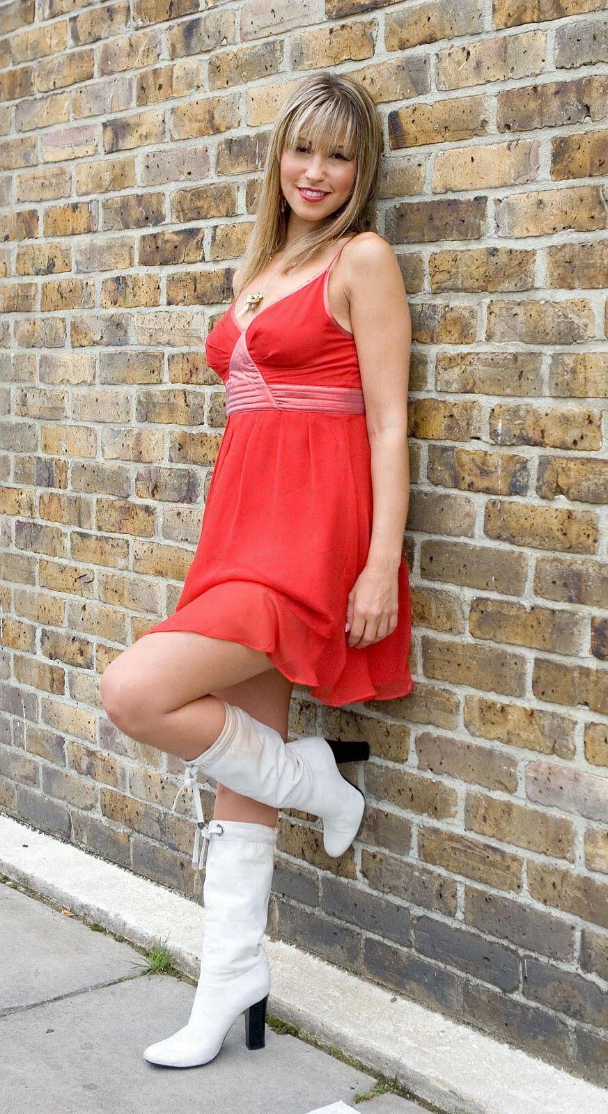 Rachel Stevens Fancy Spring Red Sleeveless Short Dress