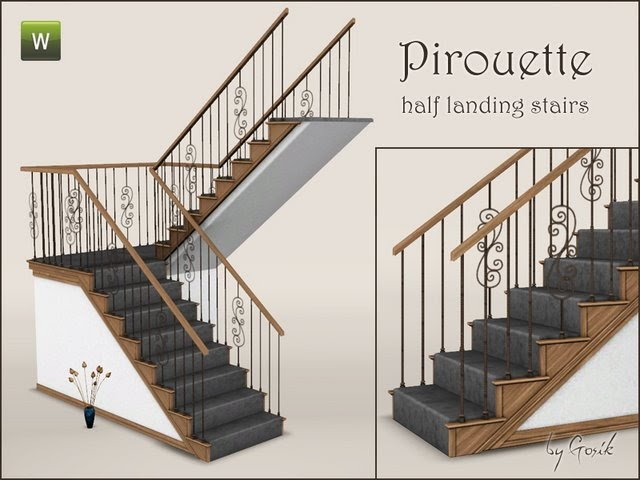My Sims 3 Blog Pirouette Stairs By Gosik