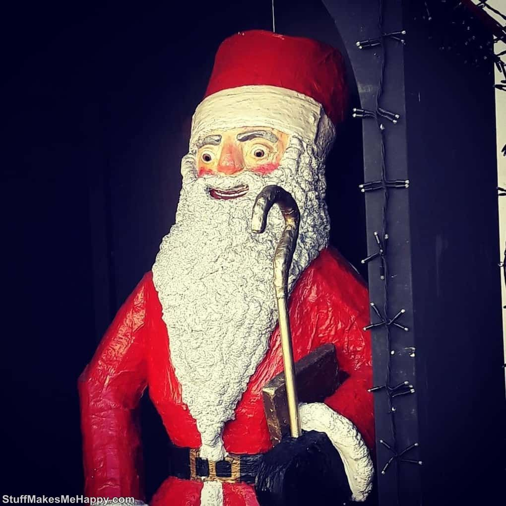 8. The face of Santa Claus, when the child refused to read the poem