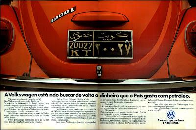 propaganda Volkswagen - 1979. propaganda anos 70. propaganda carros anos 70. reclame anos 70. Oswaldo Hernandez.