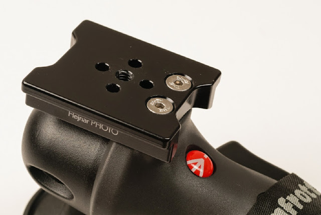 Hejnar Photo M324RC2 adapter plate on Manfrotto Joystick head