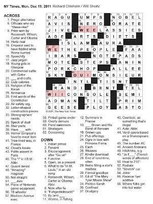 The New York Times Crossword in Gothic: 12.19.11 — 'Wē