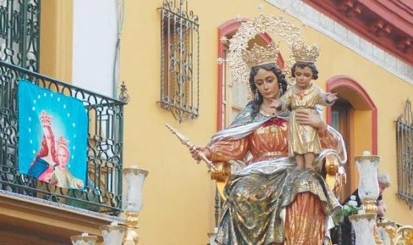Horarios e Itinerarios de las tres Porcesiones de María Auxiliadora en Sevilla este Viernes 24 de Mayo del 2019