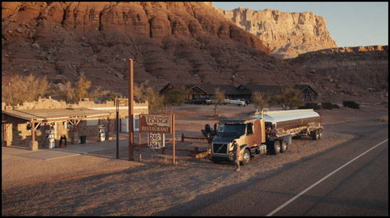 Screen Capture from the Volvo Trucks movie, The Movers