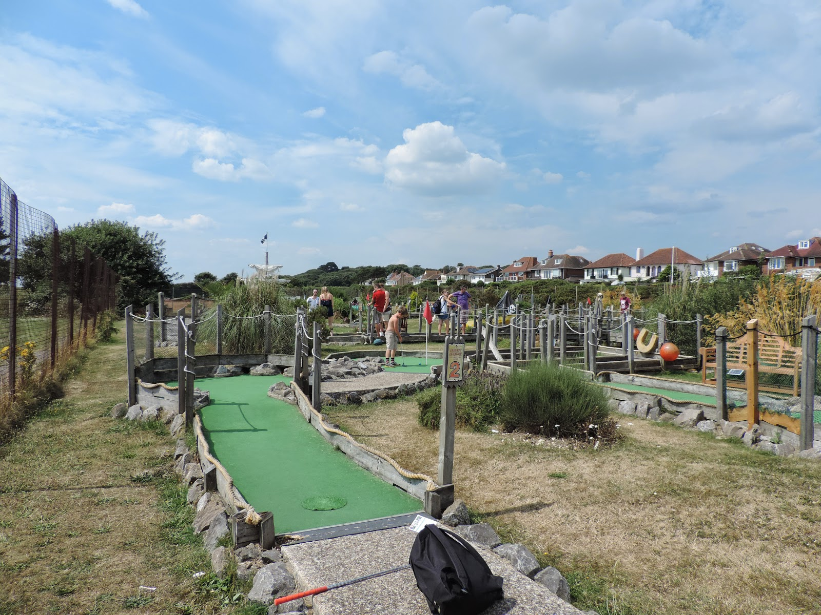crazy mini golf course stokes bay seafront