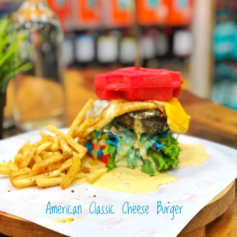 Ezietech Cafe, Cendol Durian, Port Durian, Kopi Gantang, Rawlins Eats, Ezietech Cafe Nilai, American Classic Cheese Burger, byrawlins, Rawlins GLAM