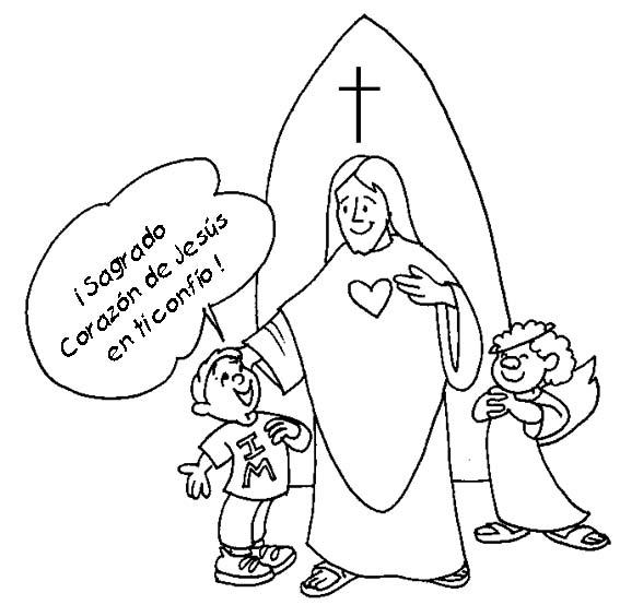 Recursos Pastorales Sopeña: Dibujos del Sagrado Corazón de