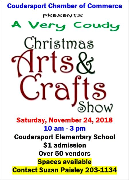 11-24 Christmas Craft Show, Coudersport Elementary School