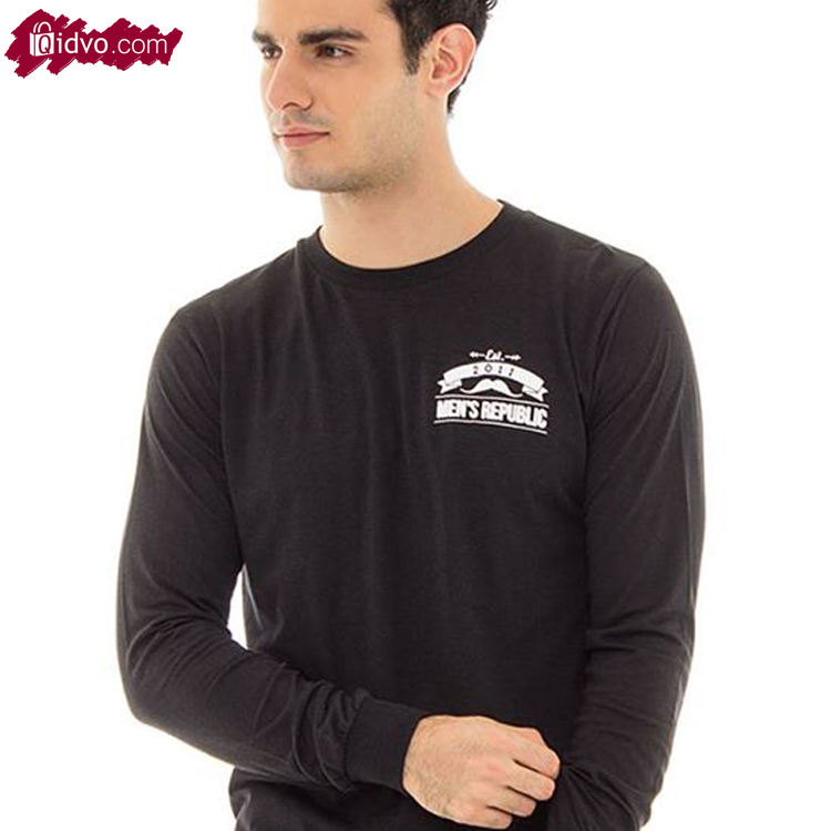 Kaos Lengan Panjang Mens Republic Cambridge - Black