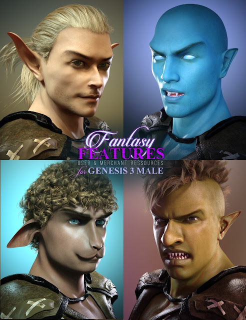 Fantasy Features for Genesis 3 BUNDLE