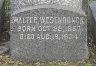 Grabstein von Walter Wesendonck