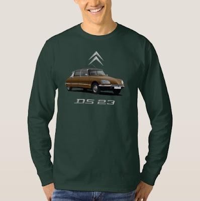 Citroën DS musta katto t-paito