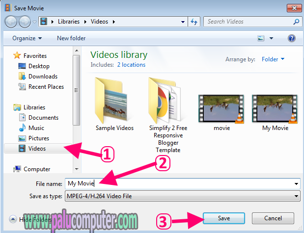 menyimpan video di movie maker