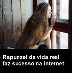 Rapunzel da vida real faz sucesso na internet