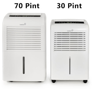 Ivation IVADH70PW 70 Pint versus Ivation IVADH30PW 30 Pint Dehumidifiers, image, review features & specifications compared