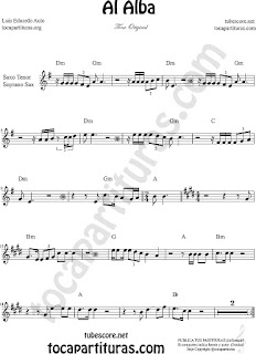 Soprano Sax and Tenor Sax Sheet Music for Al Alba Soprano and Tenor Saxophone Music Scores